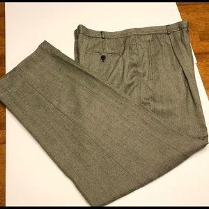 LRL | Career Pants Silk/Wool/Linen Herringbone 14